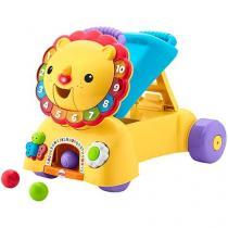 Andador para Bebê de Empurrar Musical - Fisher-Price Leãozinho 3 em 1
