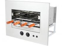 Assador à Gás GN Rotativo Arke Sapore Premium - de Embutir com 4 Espetos Acendimento Automático