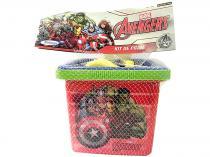 Baldinho de Praia Marvel Avengers - 5 Peças Xalingo