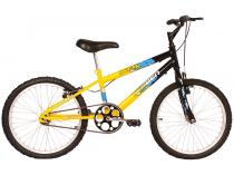 Bicicleta Infantil Aro 20 Verden Ocean - Preta e Amarela Freio V-Brake