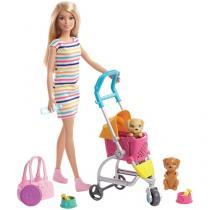 Boneca Barbie Carrinho de Cachorrinhos - com Acessórios Mattel