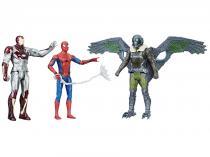 Bonecos Marvel Spider-Man HomeComing - Cidade das Teias com Acessórios Hasbro 3 Unidades
