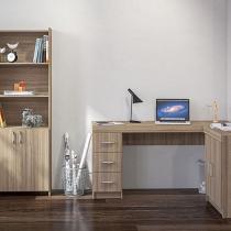 Conjunto Caruaru 4 Portas 3 Gavetas Politorno - com Mesa para Computador/Escrivaninha e Estante
