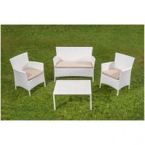 Conjunto de Mesa para Jardim/Área Externa - com 3 Cadeiras Estofadas Alegro Móveis CJA00014