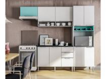 Cozinha Compacta Líder Casa Aroma - 9 Portas 3 Gavetas