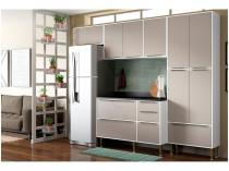 Cozinha Compacta Multimóveis Paris com Balcão - 11 Portas 4 Gavetas