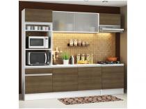 Cozinha Completa Madesa Ametista com Balcão - Nicho para Micro-ondas 8 Portas 1 Gaveta