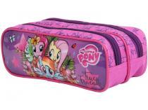 Estojo Escolar 2 Divisórias My Little Pony - Zíper Soft DMW