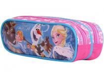 Estojo Escolar Duplo Rosa com Zíper Max - Disney Frozen Dermiwil