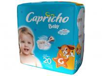 Fraldas Capricho Baby Tam G 20 Unidades - com Indicador de Umidade