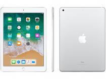 "iPad 6 Apple 128GB Prata Tela 9.7"" Retina - Proc. Chip A10 Câm. 8MP + Frontal iOS 11 Touch ID"