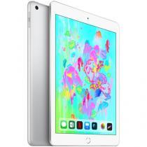 "iPad 6 Apple 4G 128GB Prata Tela 9.7"" - Retina Proc. Chip A10 Câm. 8MP + Frontal iOS 11"