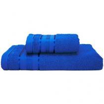 Jogo de Toalhas de Banho Santista 100% Algodão - Royal Knut Azul Royal 2 Peças