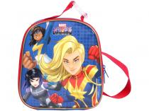 Lancheira Infantil Térmica Escolar Dermiwil Max - Azul Capitã Marvel