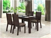 Mesa de Jantar 4 Cadeiras Retangular Viero Móveis - Cine