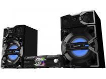 Mini System Panasonic Bluetooth USB MP3 CD Player - Rádio FM 2000W 2 Caixas e Subwoofer SC-MAX3500LB