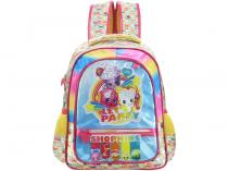 Mochila Escolar Tam. M Xeryus - Shopkins Rainbow Party com Bolsinha