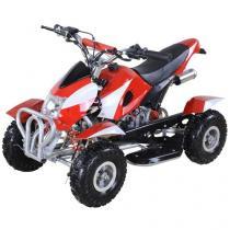 Quadriciclo Barzi Motors Bob à Gasolina e à Óleo - 49cc Velocidade Máxima 50km/h Vermelho