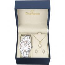 Relógio Feminino Champion Analógico - CN29178D com Bijouteria