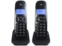 Telefone Sem Fio Motorola MOTO700-MRD2 + 1 Ramal - Identificador de Chamada Preto