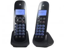 Telefone Sem Fio Motorola MOTO750-MRD2 + 1 Ramal - Identificador de Chamada Viva Voz Preto